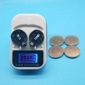 Piles LIR2032 (CR2032 rechargeable) et son chargeur